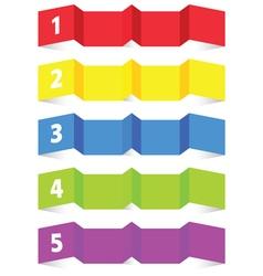 tag label set color vector image