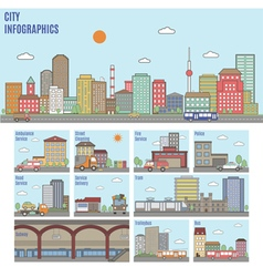 City Transport Infographics vector image vector image