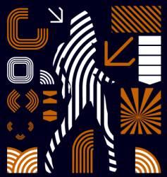 stripe graphic elements vector image vector image