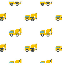 yellow drilling machine pattern flat vector image vector image