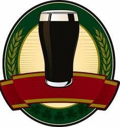 black beer irish label vector image