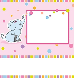 Card elephant vector