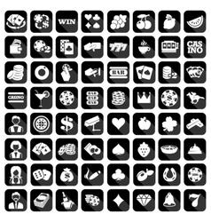 Big set of flat casino icons vector image vector image