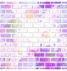brick wall graffiti vector image