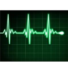Green heart beat Ekg graph EPS 8 vector image vector image