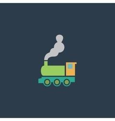 Train flat icon vector