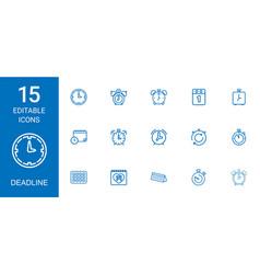 15 deadline icons vector