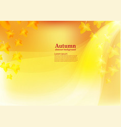 abstract background for autumn vector image