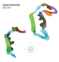 Abstract color map of azad kashmir vector