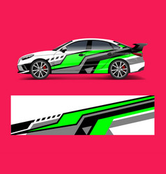 Abstract racing graphic for sport car wrap design vector
