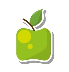 apple healthy fruit icon vector image