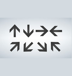 arrows collection set of different direction vector image