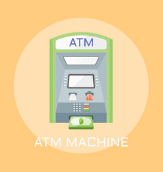 atm machine flat design vector image