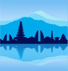 bali skyline vector image