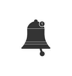 bell icon isolated new notification icon new vector image