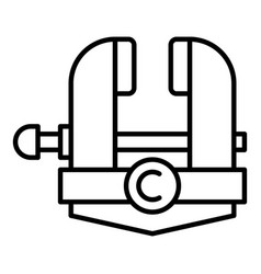 Blacksmith vise icon outline style vector