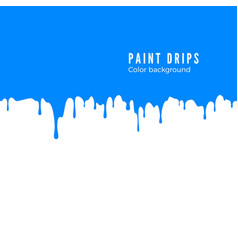 Blue paint splatter horizontal drips seamless vector