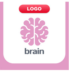 brain logo silhouette top view design template vector image