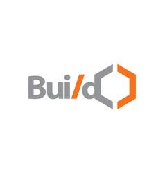 build logo design template vector image
