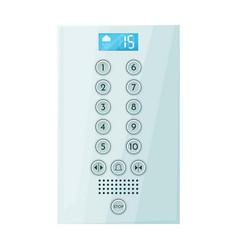 Button elevator iconcartoon icon vector