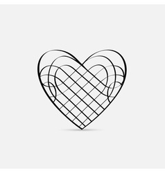 Calligraphic Heart vector