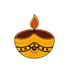 Candle onam celebration design vector
