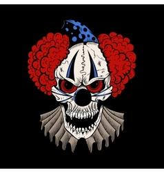 cartoon evil clown vector image