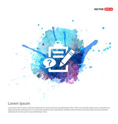 check list ok icon - watercolor background vector image