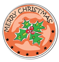 christmas retro berry vector image