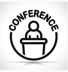 conference icon design concept vector image