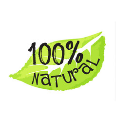 Cosmetics and beauty label - 100 natural vector