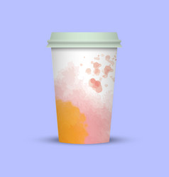 Creative watercolor coffee cup vector