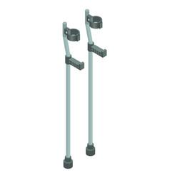 crutches icon isometric style vector image
