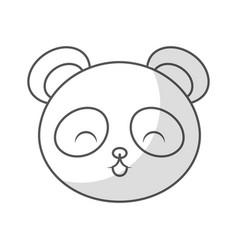 cute shadow panda bear face vector image