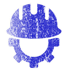 development hardhat grunge textured icon vector image