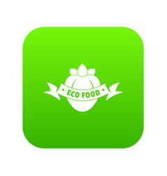 eco fresh food icon green vector image