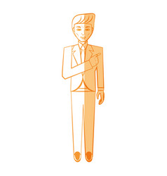 elegant man cartoon vector image