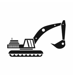 Excavator icon in simple style vector image