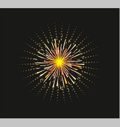 Fireworks and celebration background vector