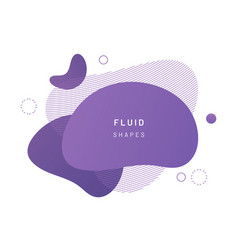 fluid blob for card background vector image