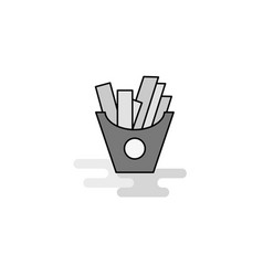 fries web icon flat line filled gray icon vector image