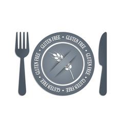 Gluten free icon vector