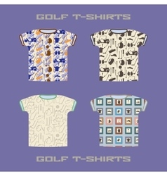 Golf t-shirt template vector