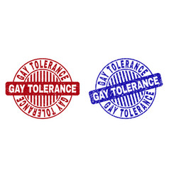 Grunge gay tolerance scratched round stamps vector