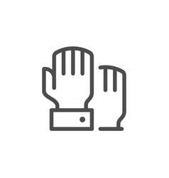 hand voting line icon vector image