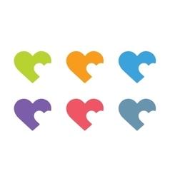 Heart icon logo vector