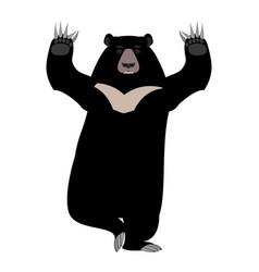 Himalayan bear yoga yogi wild animal emoji black vector