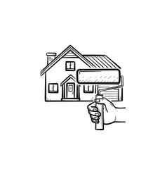 house painting hand drawn sketch icon vector image