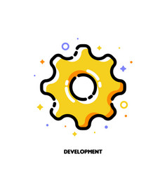 icon of cogwheel for business development concept vector image