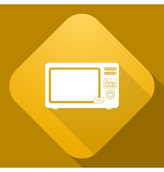 icon of Microwave Oven with a long shadow vector image